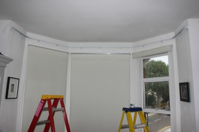 Integra Double duty curtain rail fitted in North London