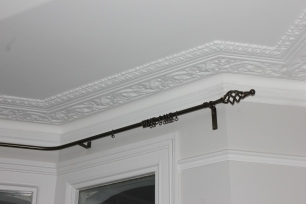 bespoke wrought iron pole fitted in london