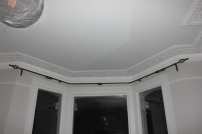 iron bay window curtain pole fitted in london by FITT ERIND