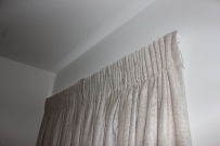 curtains in pencil pleat