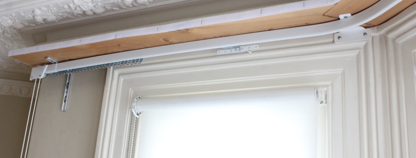 New Heavy Duty Curtain Rail Fitted On A Pelmet Board For A