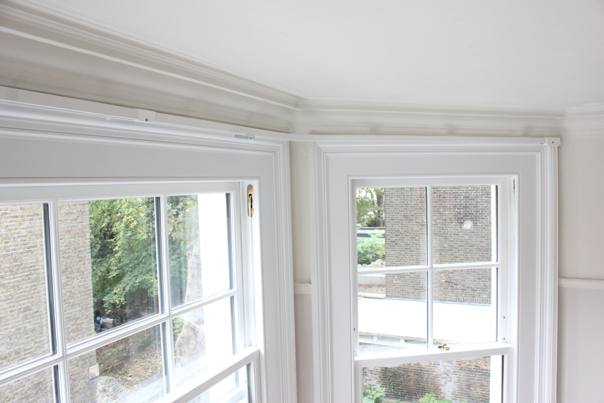 Bay Window Corded Silent Gliss 3000 Supplied And Fitted