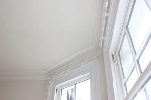 bay window curtain track south west london