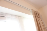 Curtains hung by FITT ERIND