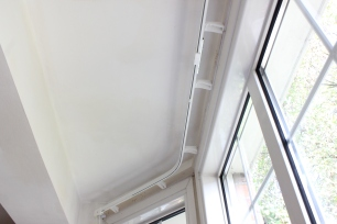 two bend bay window curtain tracks ealing