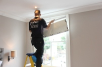 Fitting roman blinds in Fulham London