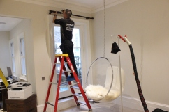 Curtain pole fitters